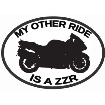 My Other Ride Is A ZZR KAWASAKI Car Sticker Vinyl Decal Motorbike Van